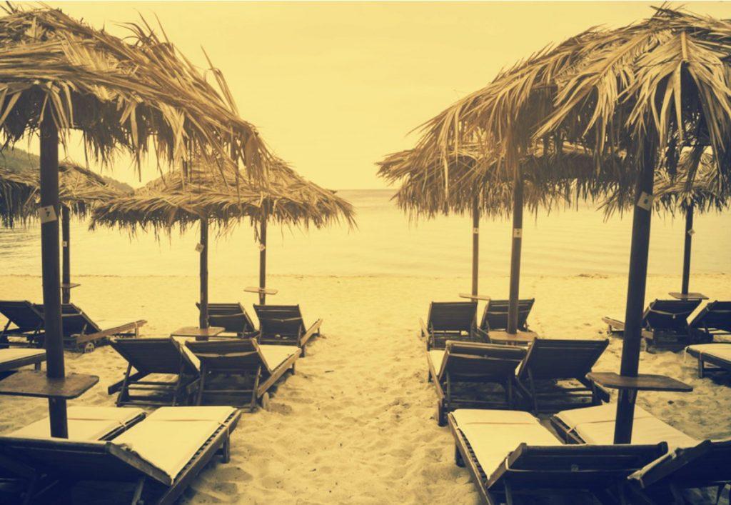 restaurant de plage démontable