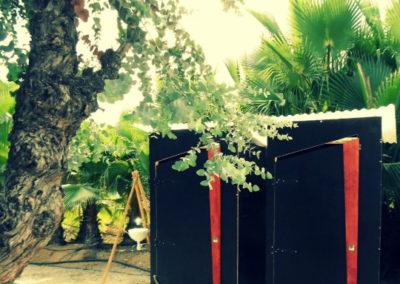Toilettes sèches pour un salon dédié au jardin