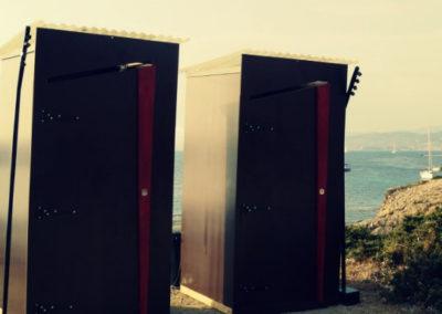 Toilettes sèches pour un évènement d'entreprise