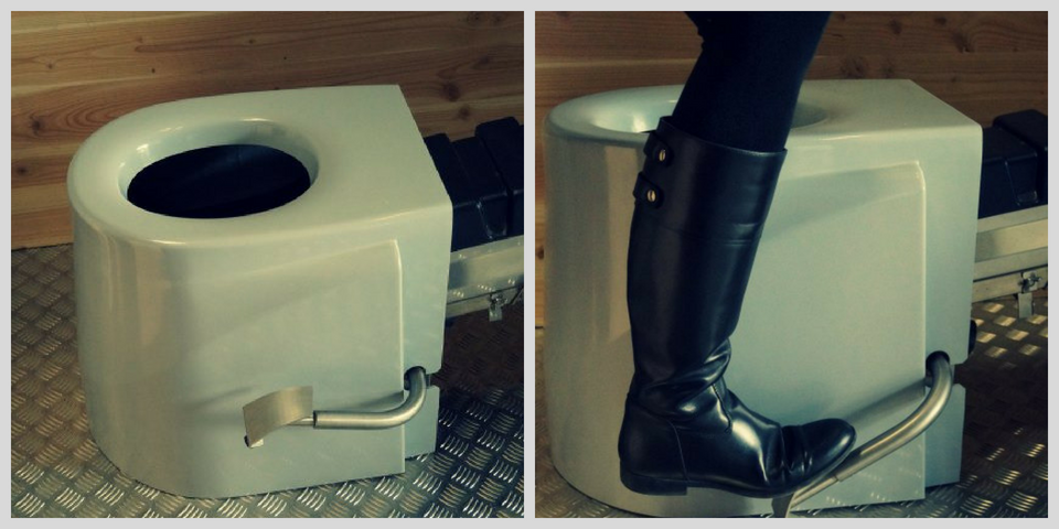 toilettes sèches à séparation avec lombricompostage