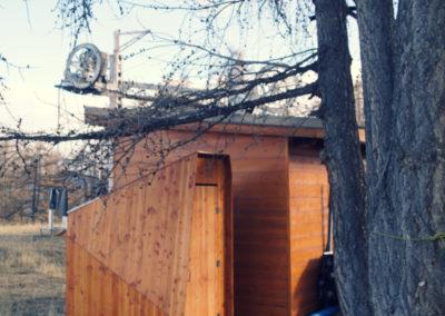Toilettes saisonnières pour une station de ski
